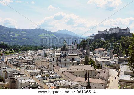 Salzburg Old Town And Festung Hohensalzburg