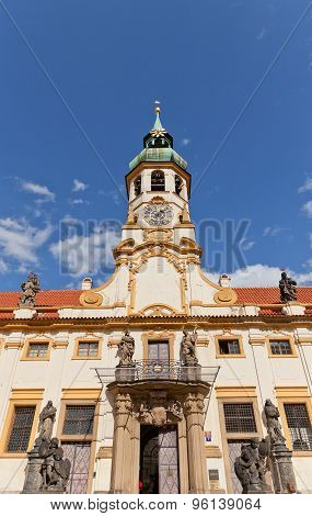Facade Of The Church Of Lord Birth (loreta) In Prague