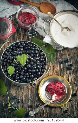 Ingredients For Blackcurrant Jam