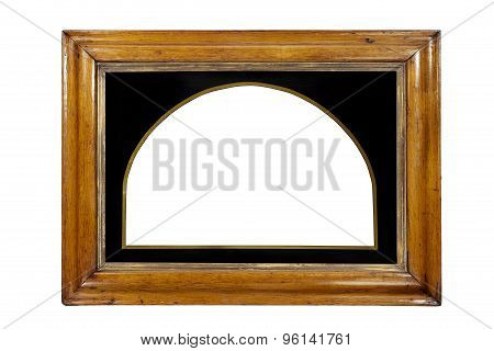 Frame Rectangular Wall Hanging Or Mirror Some Gilding Isolated With Clipping Paths