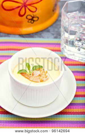 Steamed Egg with fresh shrimp