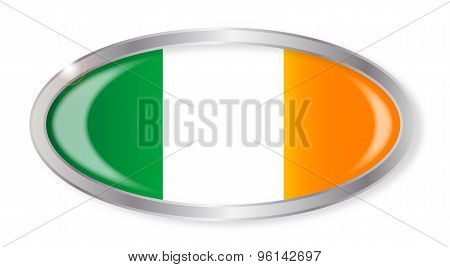 Irish Flag Oval Button