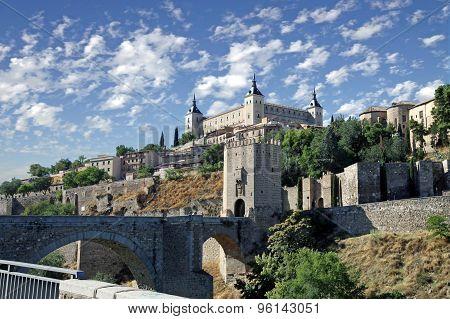 Toledo. Bridge Over The River Tagus