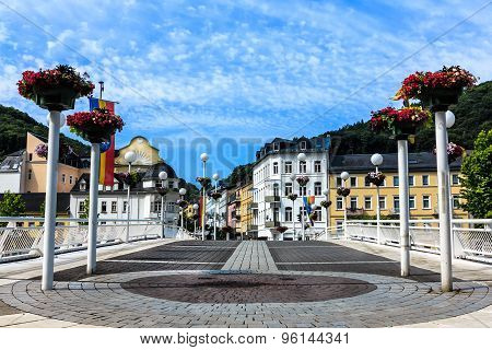 Bad Ems, the spa town on the banks of the river Lahn, Germany
