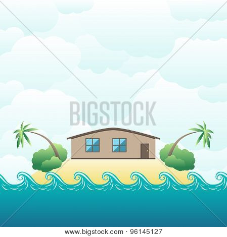 House On Tropical Island