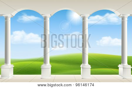 Arch Columns Meadow
