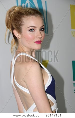 SAN DIEGO, CA - JULY 10: Skyler Samuels arrives at the 20th Century Fox/FX Comic Con party at the Andez hotel on July 10, 2015 in San Diego, CA.