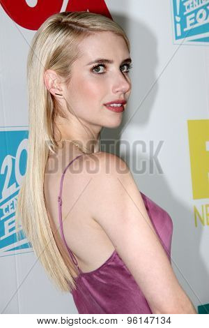 SAN DIEGO, CA - JULY 10: Emma Roberts arrives at the 20th Century Fox/FX Comic Con party at the Andez hotel on July 10, 2015 in San Diego, CA.