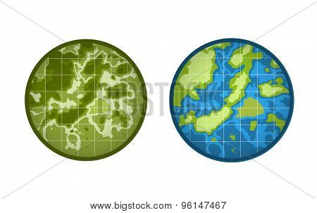 Global Earth vector icon isolated on white background. Map, Island or Texture and Height symbol. Sto