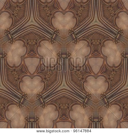 Wooden Ceiling Seamless Background Pattern