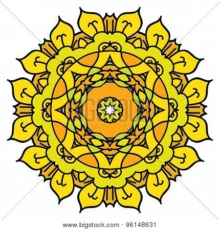 Yellow Vector Mandala