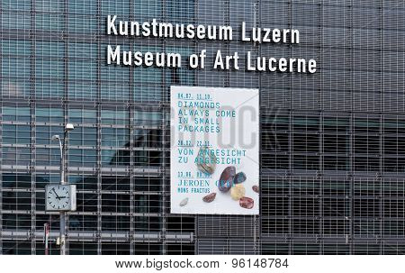 Wall Of The Lucerne Culture And Congress Centre Building