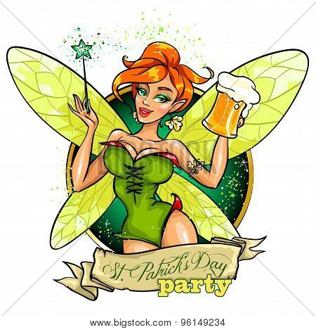 Fairy with beer mug
