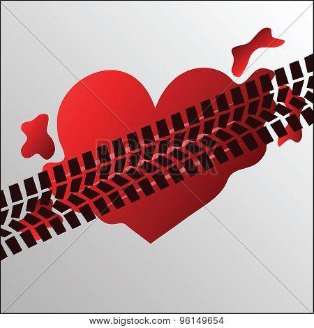 Run over heart