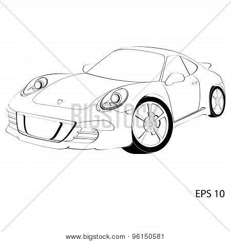 Sports car, the Porsche 911
