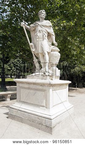 Hannibal, the Carthaginian king statue of Slodtz (1655/1726)
