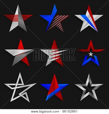 The star abstract signs. Logos templates. Vector illustration.