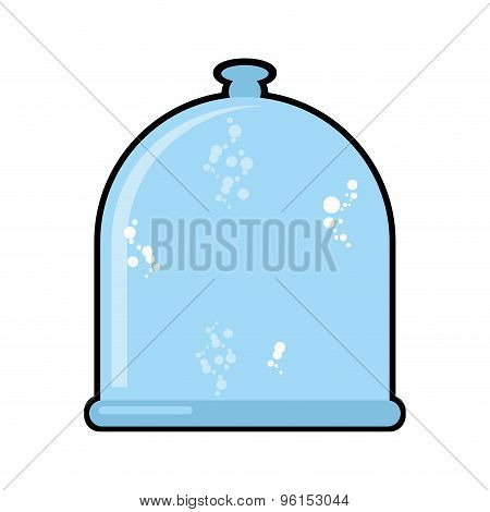 Laboratory Jar. Glass Bell. Glassware For Scientific Experiments. Vector Illustration.