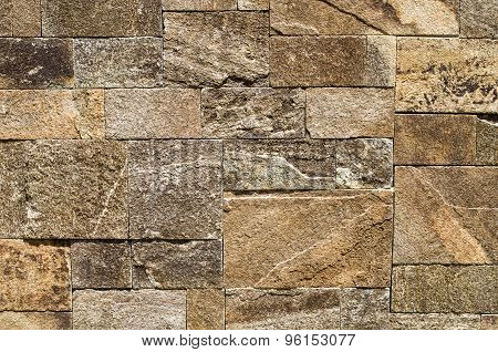 Colorful Relief Cladding Gneiss Slabs On Wall