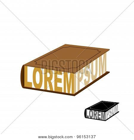 Book Logo Emblem. Design Template Fo Bookstore. Vector Illustration.