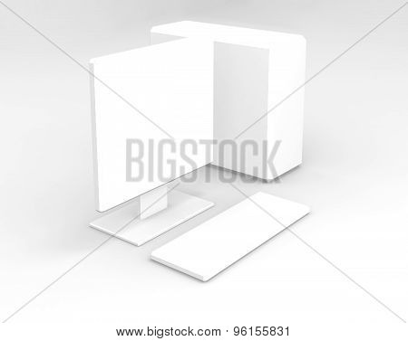 White Computer On White Background