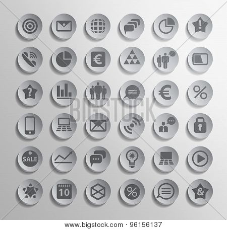 Vector polygonal modern icons