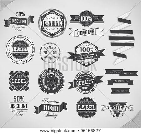 Vintage labels set. Vector design elements.