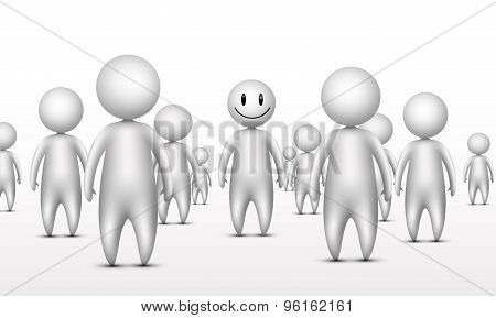 Stand out from the crowd business unique concept