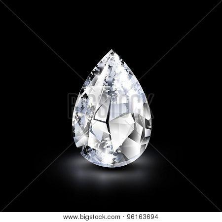 Realistic diamond.