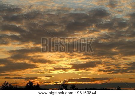 Photo sunset sky