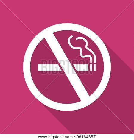 no smoking flat design modern icon with long shadow for web and mobile app