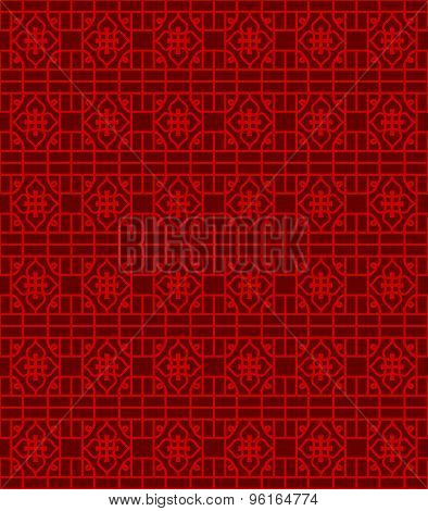 Seamless Chinese window tracery line pattern background.