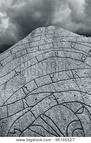 Ancient Nordic Runestone