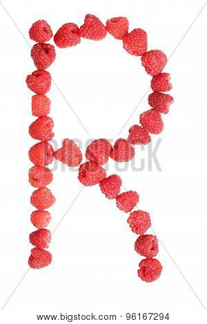 Letter R Made From Raspberry