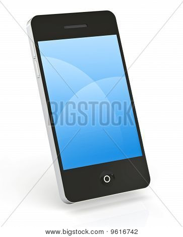 Smart Phone On White