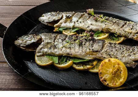 Grilled Trout With Roasted Potatoes