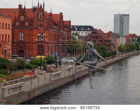 Tightrope walker from Bydgoszcz.