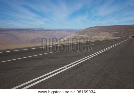 Pan American Highway in Northern Chile
