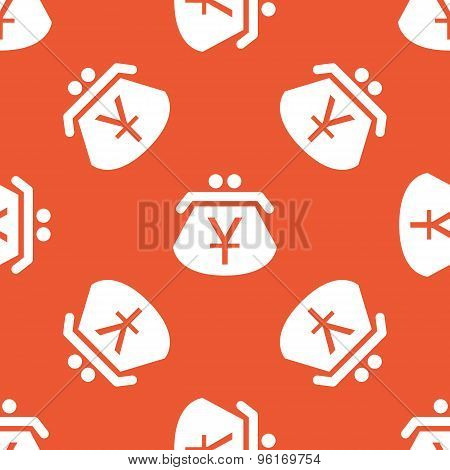Orange yen purse pattern