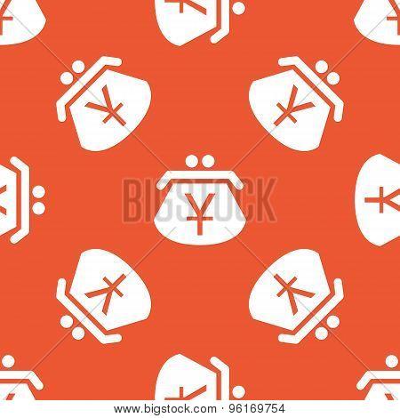 Orange yen purse pattern