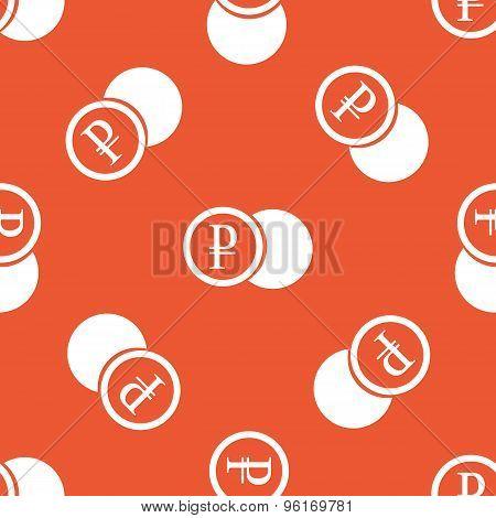 Orange ruble coin pattern