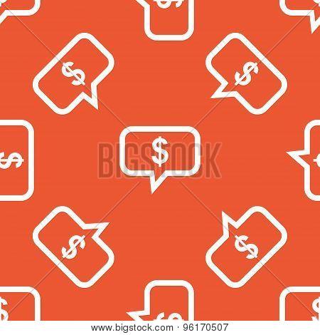 Orange dollar message pattern