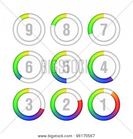 Countdown timer vector illustration