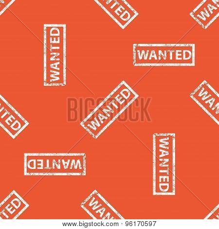 Orange WANTED stamp pattern