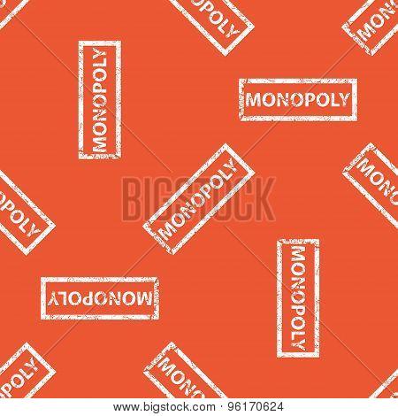 Orange MONOPOLY stamp pattern