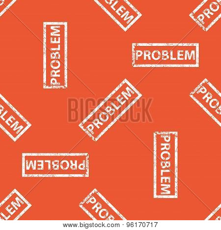 Orange PROBLEM stamp pattern
