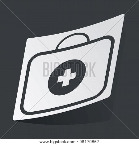 Monochrome first aid kit sticker