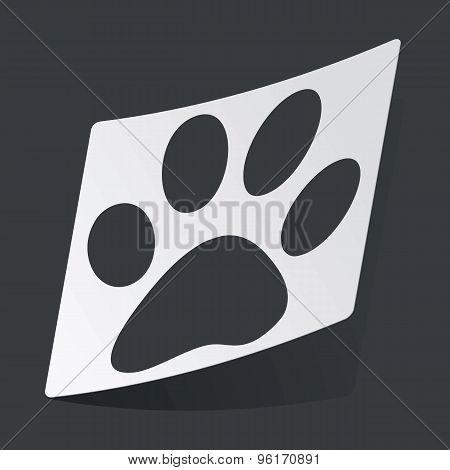 Monochrome paw sticker