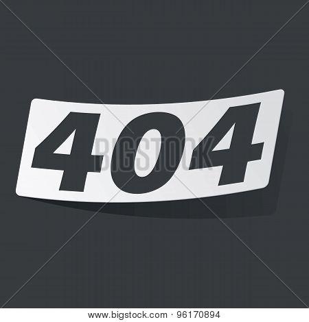 Monochrome error 404 sticker