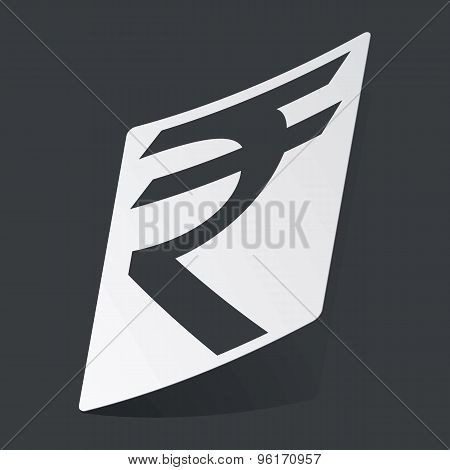 Monochrome rupee sticker